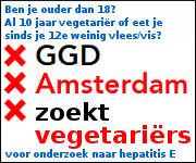 GGD Amsterdam zoekt vegetariërs voor onderzoek